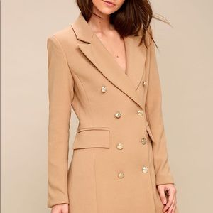 Lulu's Jackets & Coats - Tan Double-Breasted Coat